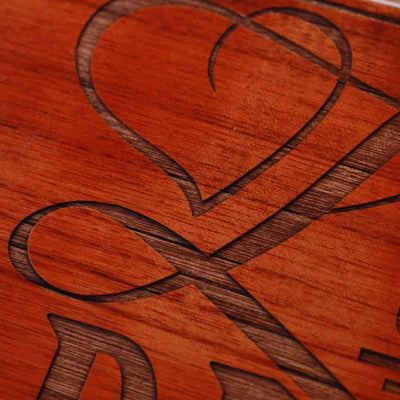 Wood Engraving - Carved Wood Wall Art Decor | Love Deeply Wood Sign | Wood Wall Posters | Romantic Gifts | Woodgeek Store