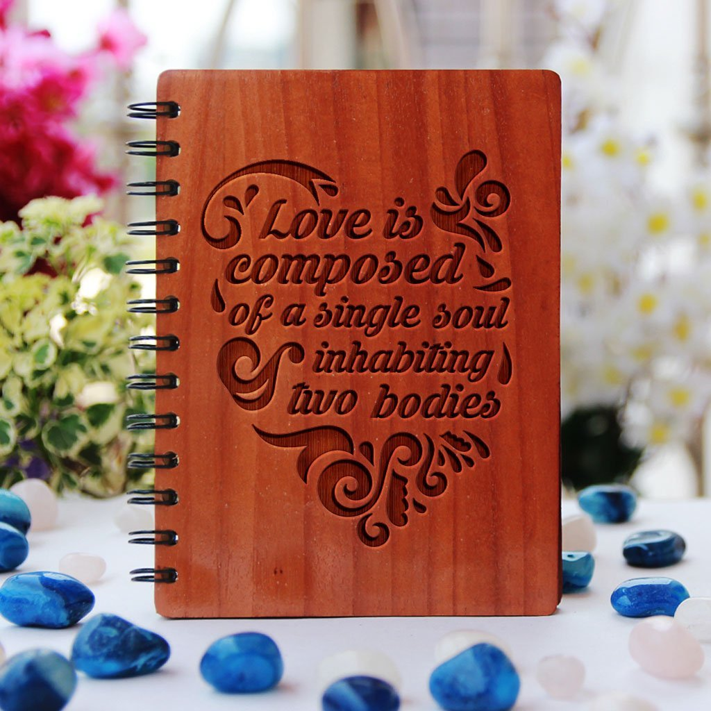 Notebook - Love Is Composed Of A Single Soul - Bamboo Wood Notebook