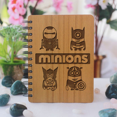 Notebook - Minions -  Wood Notebook