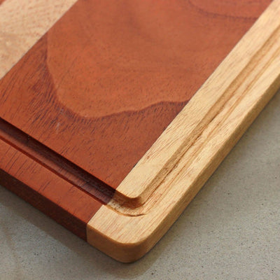 Juice Groove To Avoid Spillage - Mahogany and Birch Wooden Chopping Board - Wood Cutting Boards - Wood Chopping Block - Butcher Block Wood - Kitchen Cutting Board - Mahogany and Birch Chopping Board - Best Chopping Board - Hardwood Cutting Boards - Woodgeek Store