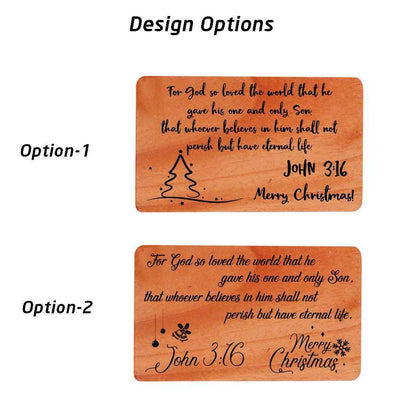 Wooden Christmas Card Design. Buy Christmas Cards Online.