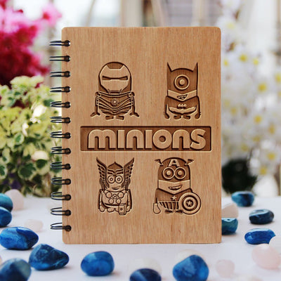 Notebook - Minions  - Bamboo Wood Notebook