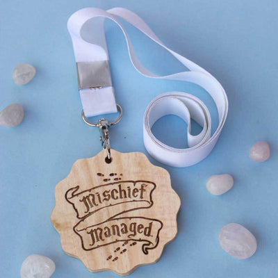 Mischief Managed Engraved Medal. This Custom Medal And Award Makes The Best Gift For Harry Potter Fans. A Harry Potter Themed Gift Idea For All The Potterheads.