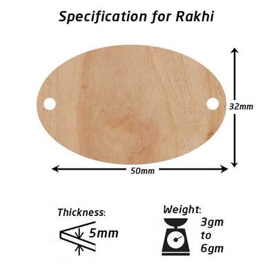 Specifications for Wooden Rakhis
