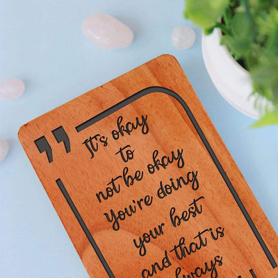 Motivational Cards & Encouragement Cards. A Set Of Personalized Wooden Cards Engraved With Inspirational Greetings. Motivational Greeting Cards.