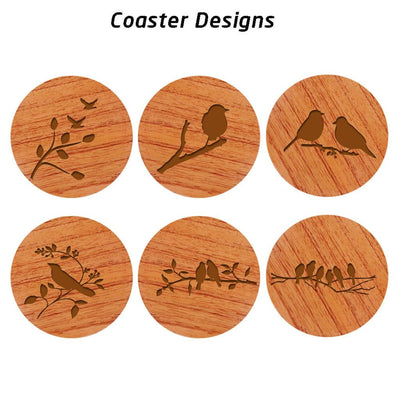 Nature Coasters - Wooden Coaster Set With Holder