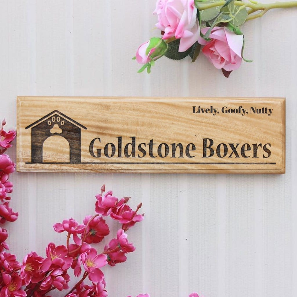 Personalized Wooden Nameplate For