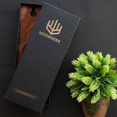 Packaging for Wooden Wine Bottle and Glass Holder - Woodgeek Store