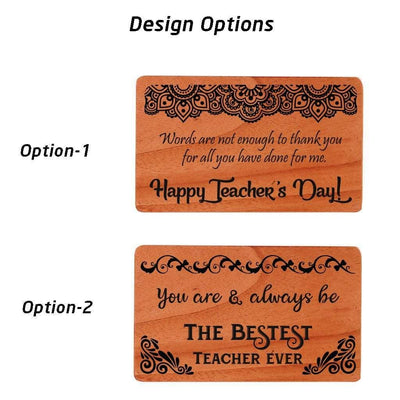 Wooden Cards for Teachers : Set of Custom Greeting Cards for Teachers