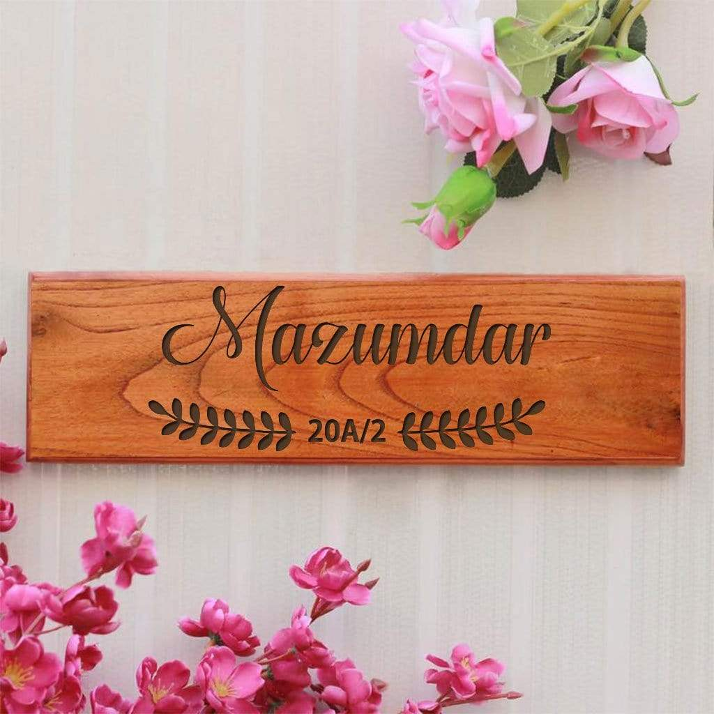 Personalized Casa Wooden Nameplate for Home