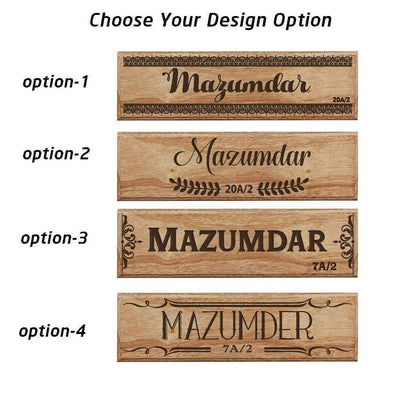 Custom House Nameplates - Nameplates for Home - Desk Name Tags - Door Name Plates by Woodgeek Store