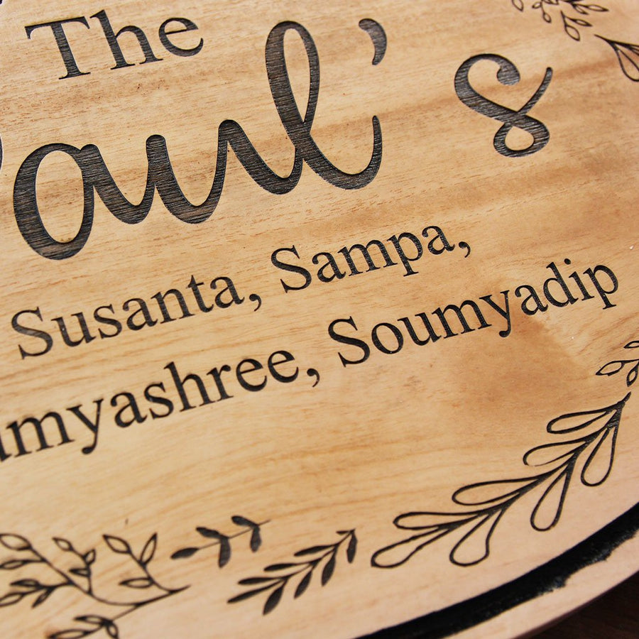 Personalized Wood Family Signs - Family Signs For Home - Family Name Signs - Last Name Signs - Hanging Signs - Hanging Signs for Home - Custom Hanging Signs - Wooden Name Signs - House Name Plates - Woodgeek Store