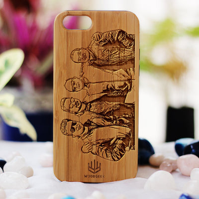 Design Your Own Phone Case - Custom Engraved Phone Cases for Friends - Photo Engraved Phone Cases - Friendship Phone case - Personalized Phone Case for Friends - Friendship Day Gifts - Personalized Birthday Gifts - Bamboo Phone Cases from Woodgeek Store
