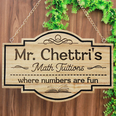 Hanging Signs & Personalized Teacher Name Plates. This Business Sign Or Custom Name Plates Make The Best Teacher Gifts. These Personalized Name Signs Are The Best Gifts For Teachers.