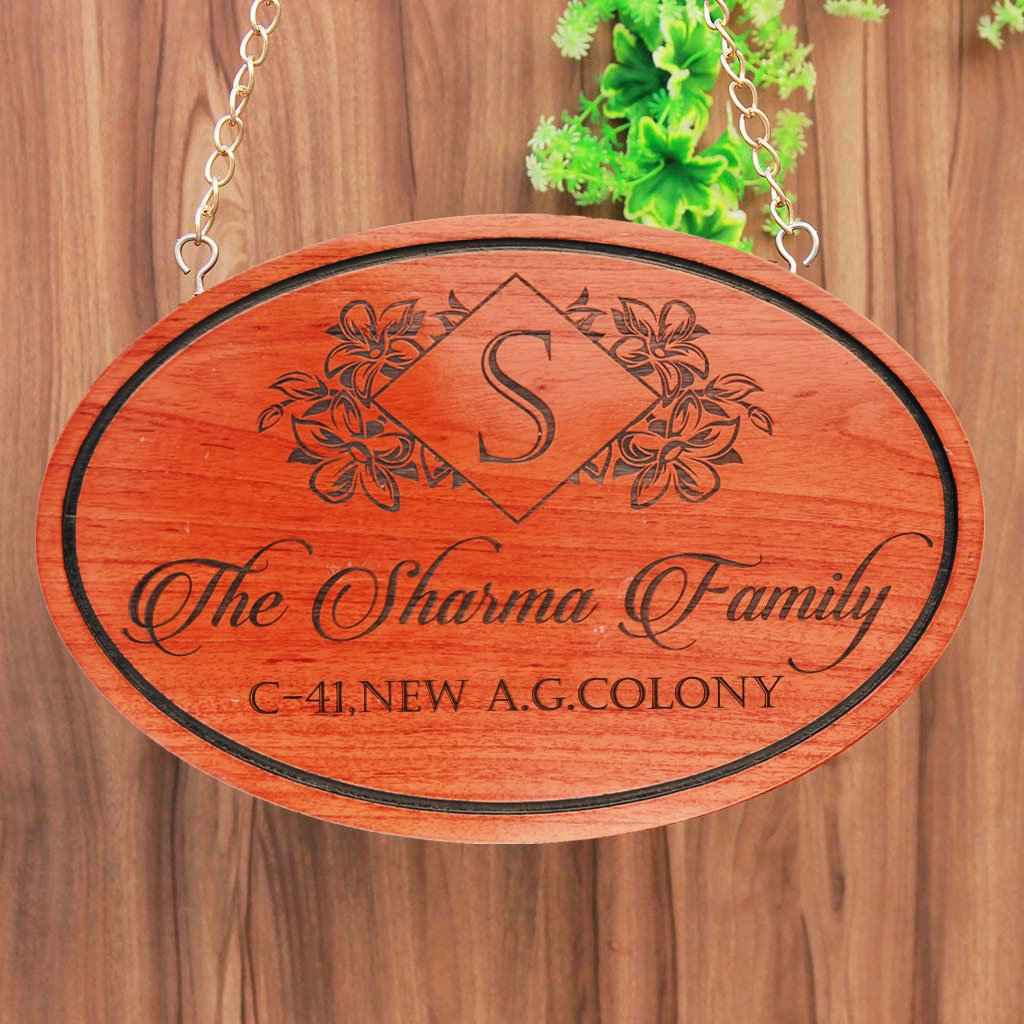 Personalized Last Name Sign - Wooden Hanging Sign - Personalized Family Signs - Family Name Signs - Hanging House Signs - Personalized Signs For Home - Home Name Plate - Hanging Signs - Wood Carved Signs - Woodgeek Store