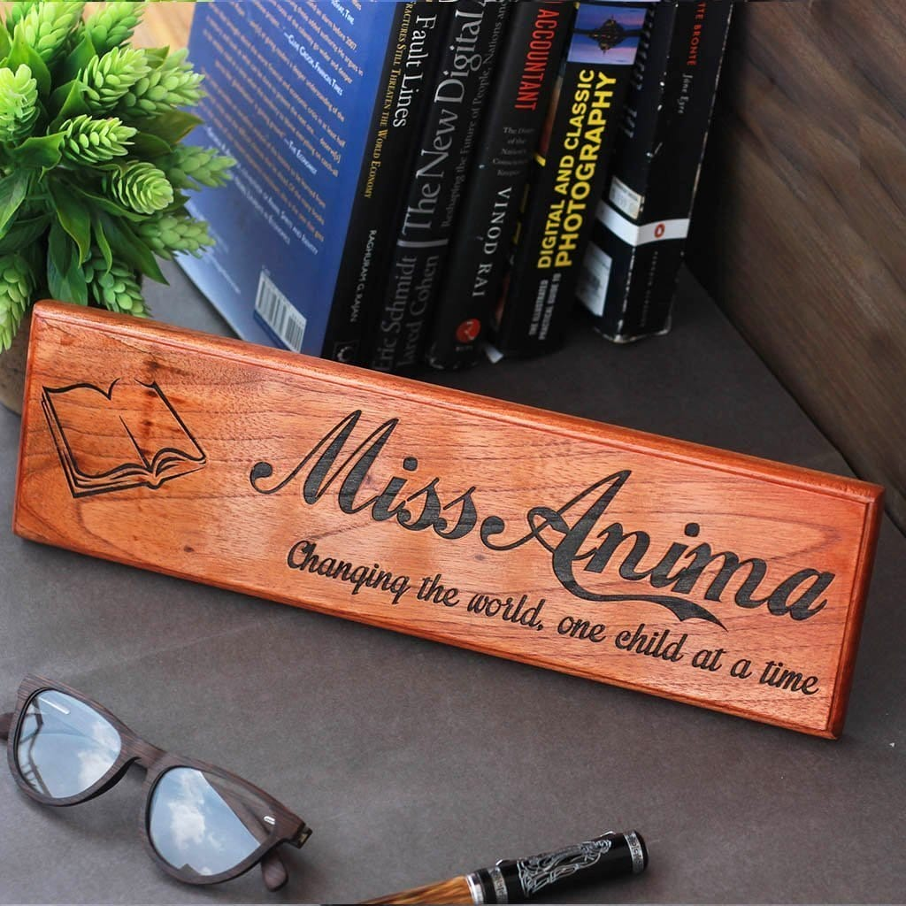 Personalized Wooden Nameplate For Teachers