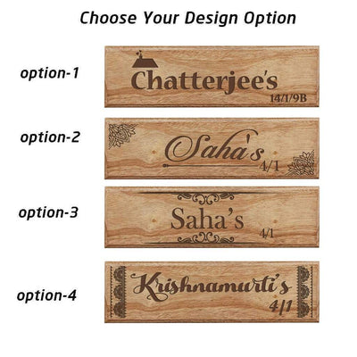 Custom House Nameplates With Address for desk & door - Family Name Wooden Signs by Woodgeek Store
