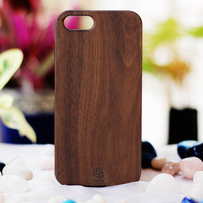 Real Wood Phone Cases - Wooden Phone Cases - Wooden Phone Covers - Walnut Wood Phone Case from Woodgeek Store