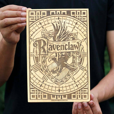 Hogwarts House Ravenclaw Wooden Poster & Wall Art - Gifts for Harry Potter fans by Woodgeek Store