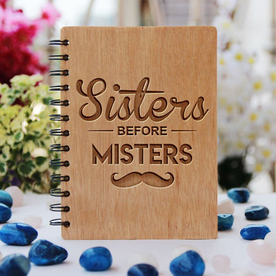 Sisters before misters notebook - freindship gifts - gifts for sisters - gifts fro women