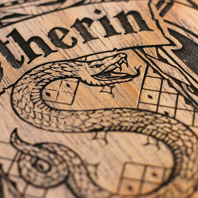 Hogwarts House Slytherin Wooden Poster & Wall Art - Gifts for Harry Potter fans by Woodgeek Store