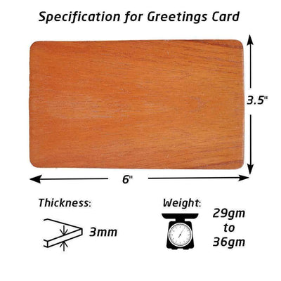 Specifications for Wooden Greeting Card for Rakhi Greetings