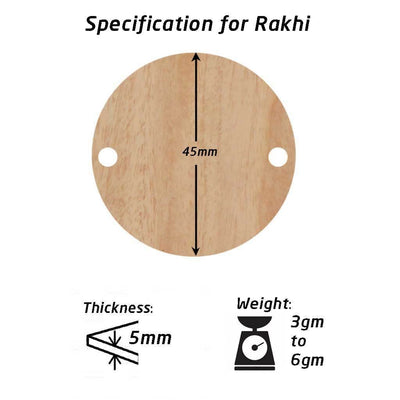 Specifications for Wooden Personalised Rakhi