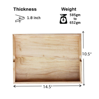Measurement for Wooden Tray With Handles - Woodgeek Store
