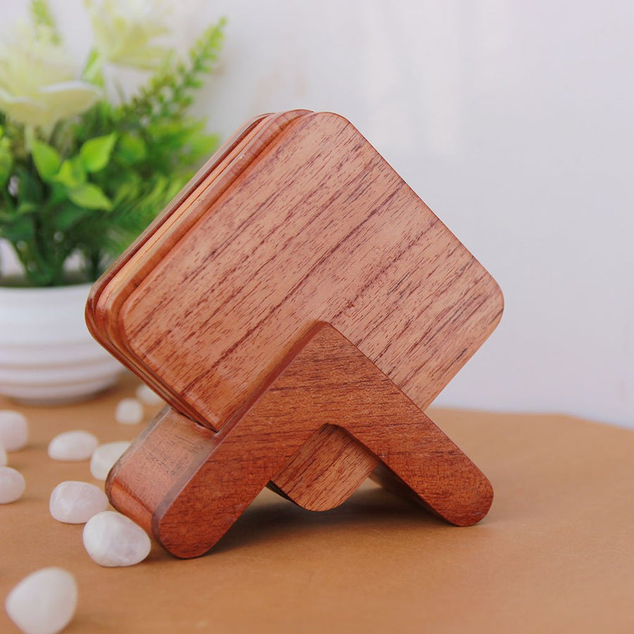 Wooden Coasters. Wooden Coaster Set Of 6. Birch Wood Coasters and Mahogany Wood Coasters. Buy Coasters Online at Woodgeek Store.