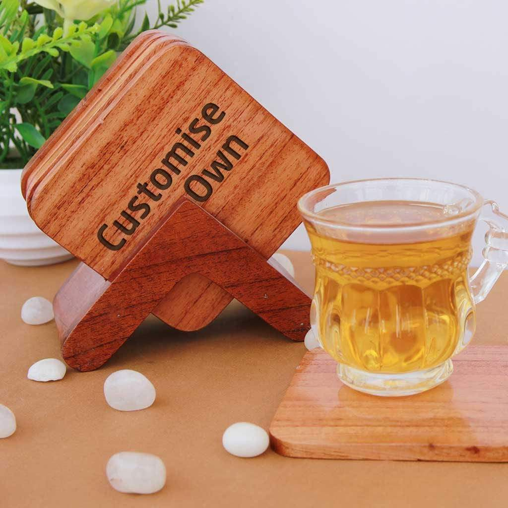 wooden Coasters Coffee and Tea Cup  set of 6