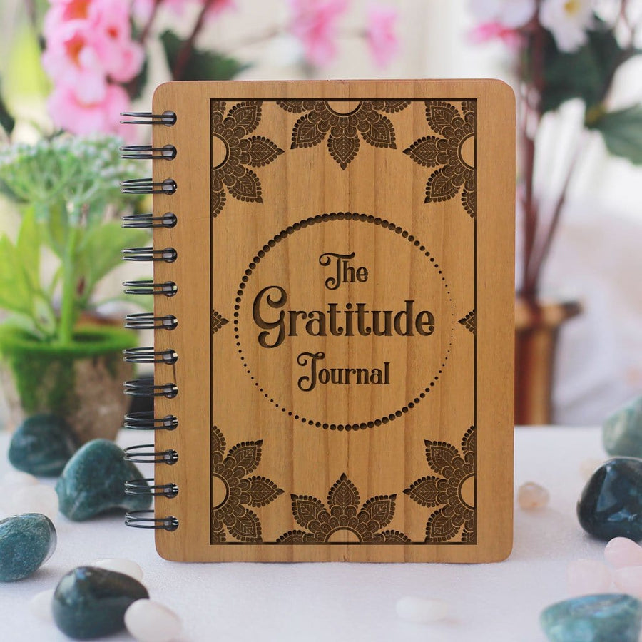 Wooden Gratitude Journal - Wood Journal Notebook - Wood art - Wooden Diary - Woodgeek - Woodgeekstore