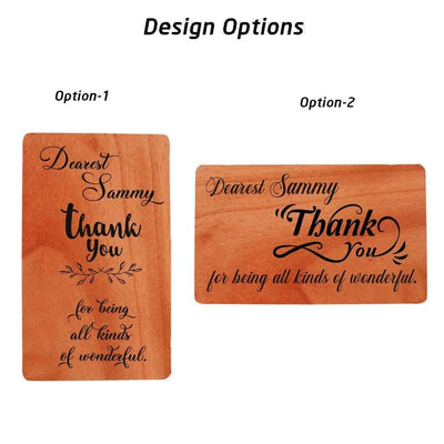 Thank You Cards - Wooden Greeting Cards Design Option.