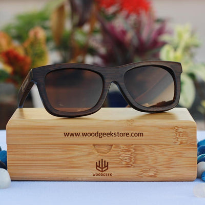 The Journeyman - charcoal bamboo square wooden sunglasses