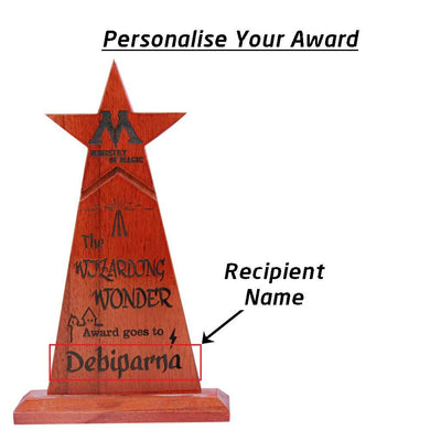 Wizarding Wonder Custom Trophies & Awards Engraved With Name. The Best Personalized Harry Potter gifts.