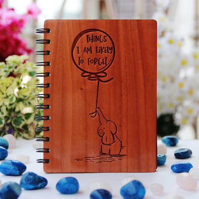Things I Am Likely To Forget - This Personalized Notebook Is A Great List Making Notebook - A Wood Diary & Notebook Journal - Unique Wooden Gifts - Custom Journal - Woodgeek Store