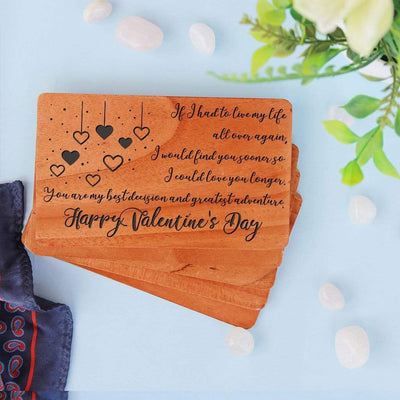 A Set Of Personalized Wooden Cards. Valentines Day Cards. Customize your own valentines day card for husband, valentine cards for boyfriend, Valentines Day cards for friends, Funny Valentines Day Cards