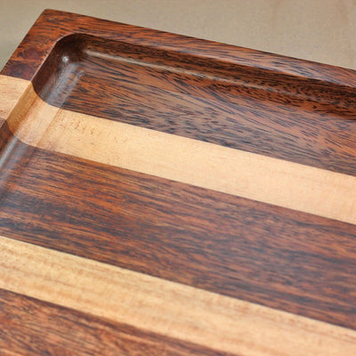 1/2 inch deep wooden tray - Walnut and Birch Wooden Tray - Wooden Serving Tray - Coffee Serving Tray - Bar & Cocktail Tray - Wooden Tea Tray - Wooden Food Trays - Small Wooden Tray - Decorative Wooden Serving Trays - Bed Serving Tray - Large Serving Tray - Rectangular Serving Tray - Kitchen Decor - Wooden Kitchen Accessories - Woodgeek Store