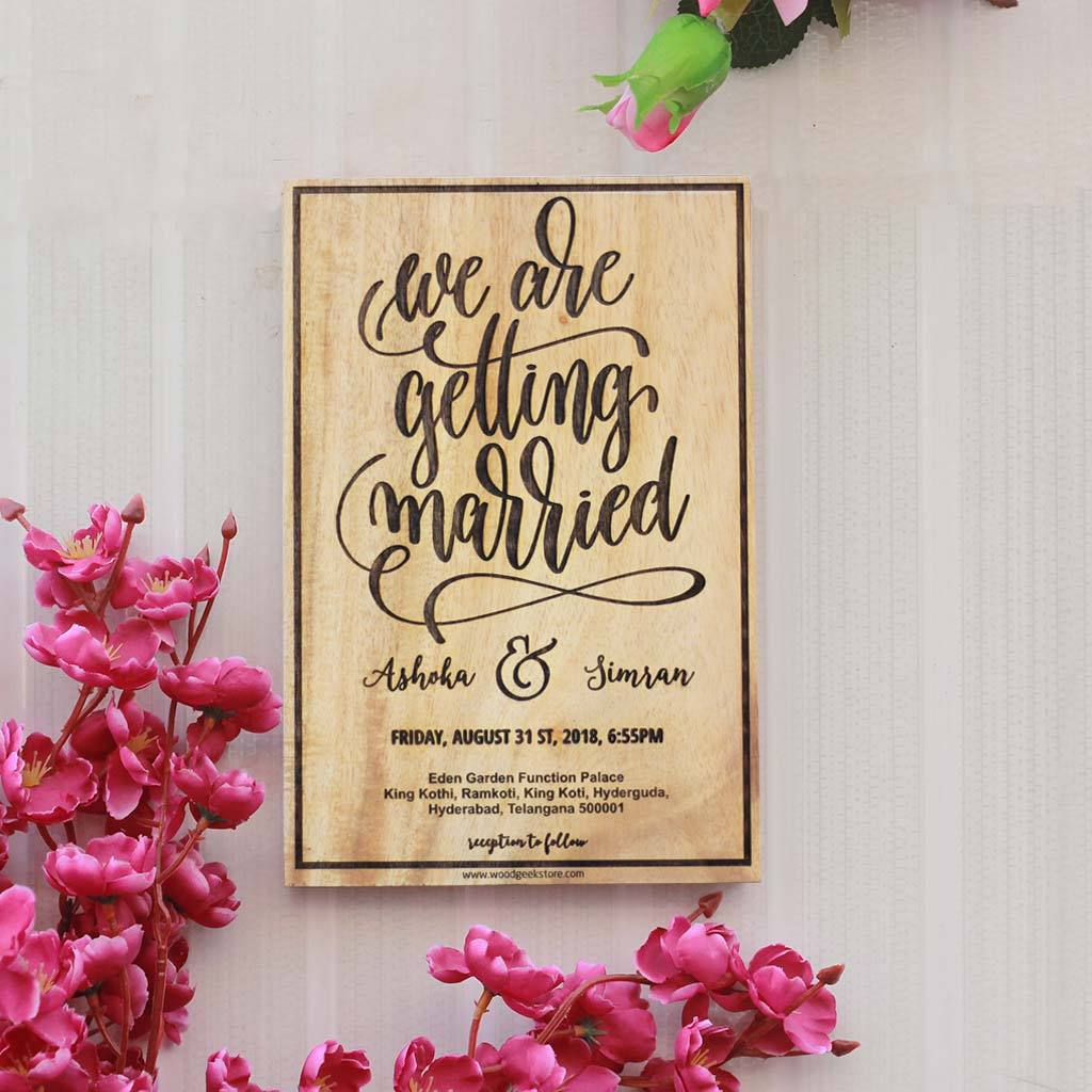 We Are Getting Married Wooden Wedding Sign Wedding Welcome Sign
