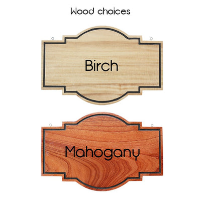 Wood Choices - Hanging Signs - Wood Carved Signs - Woodgeek Store