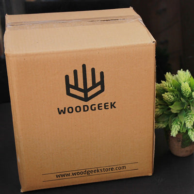 Packaging for Wooden 4 pack beer carrier - Woodgeek Store