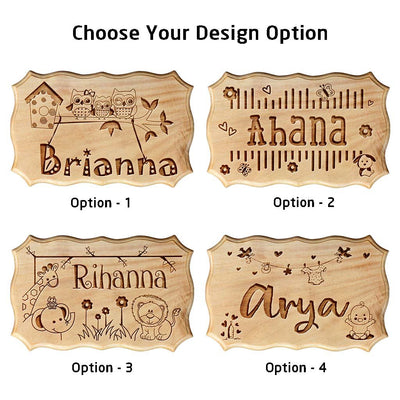 Wooden Name Signs for your baby's nursery or crib - Personalized Baby Shower Gifts for New Moms & New Parents by Woodgeek Store
