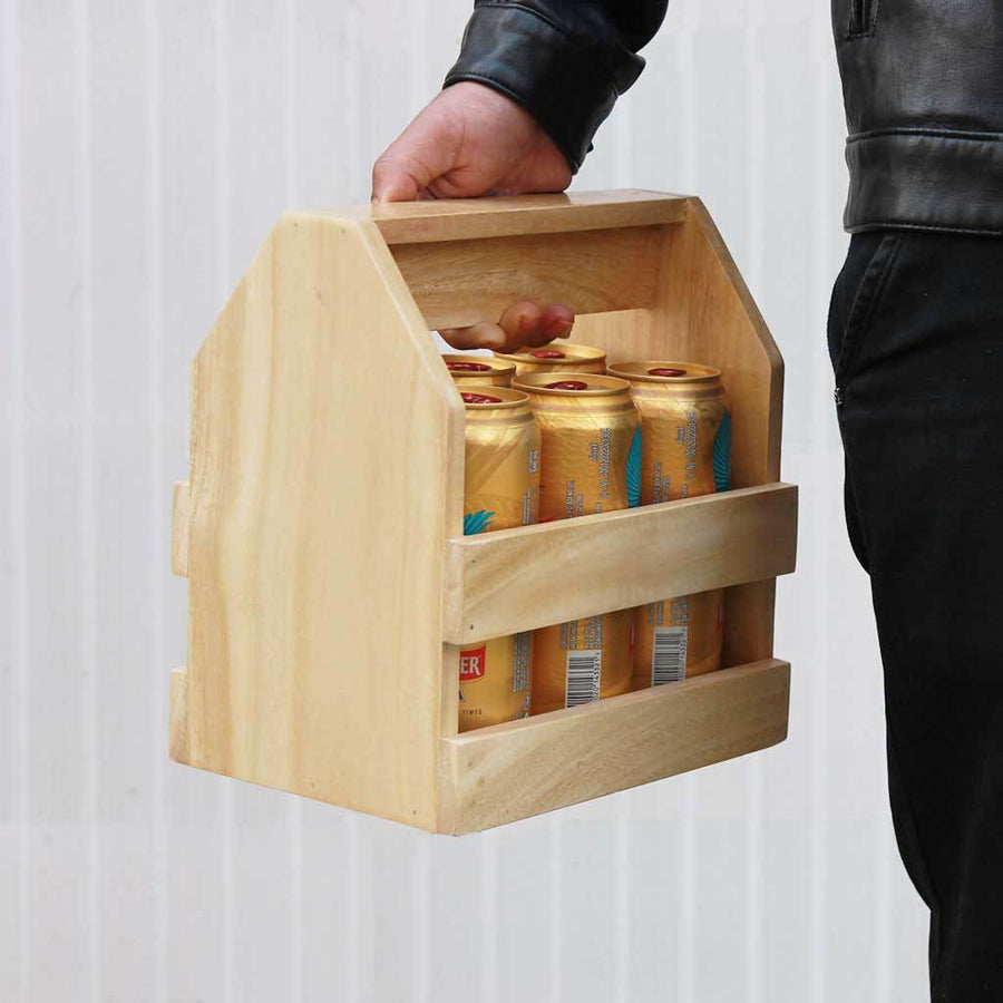 Wooden 6 Pack Beer Carrier - Wooden Beer Caddy - Wooden Beer Bottle Holder - Beer Gifts - Beer Holder - Beer Carrier - 6 Pack Beer Bottle Holder - Bar Accessories - Woodgeek Store