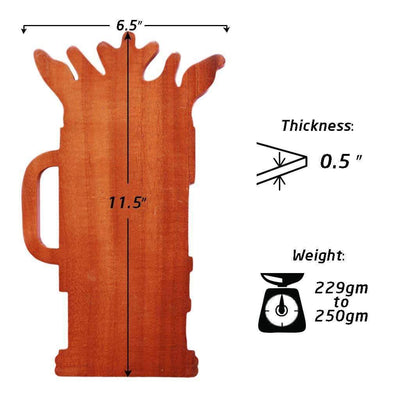 Specifications for Wooden Beer Plaque