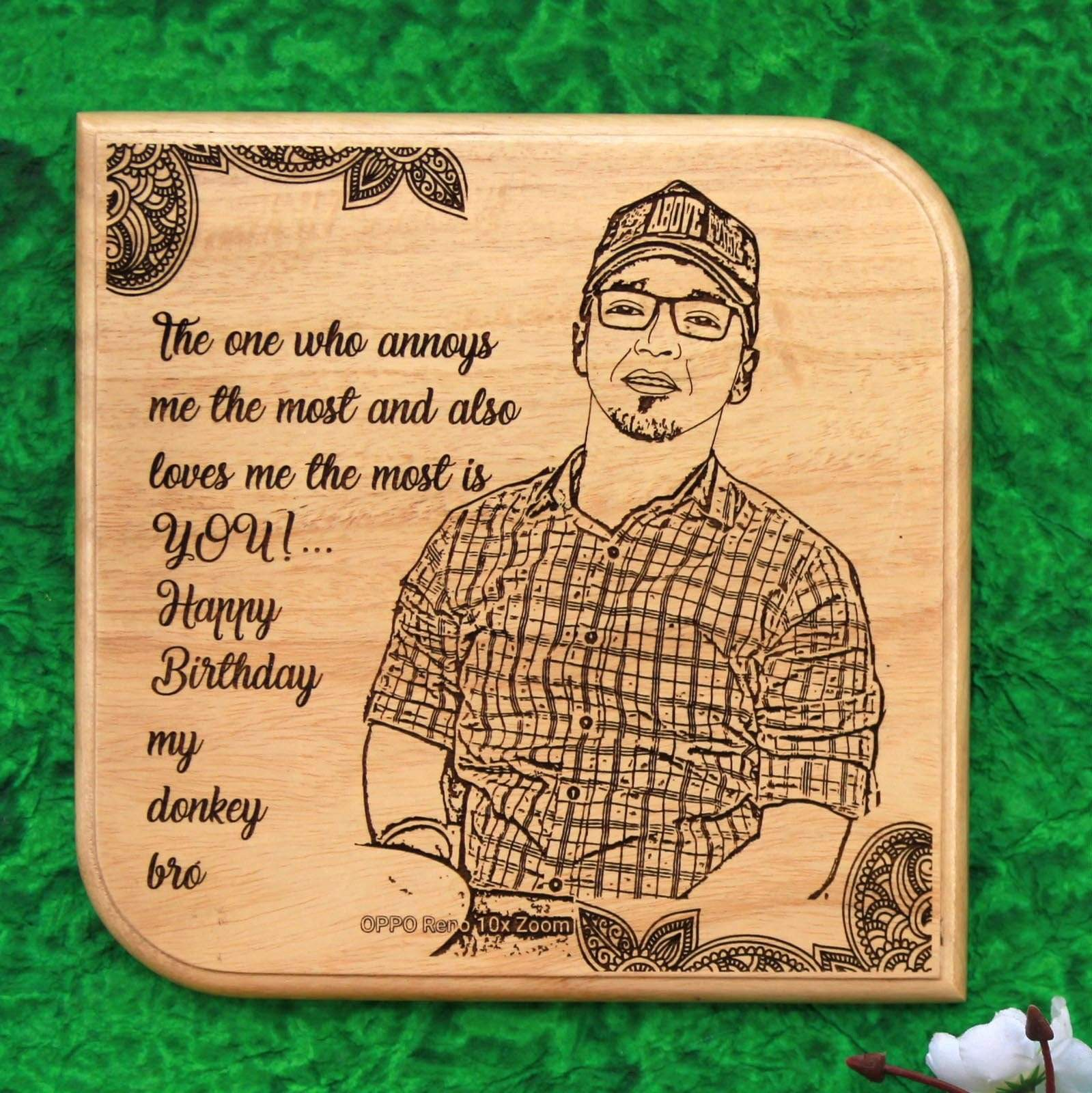 Photo Plaque For Birthday Wooden Plaque Birthday Gifts For Brother