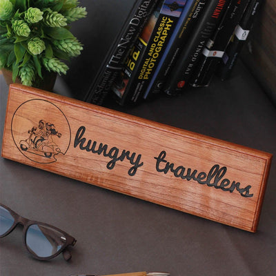 Logo Engraved Company Name Signs - Wooden Business Signs - Wood Engraved Nameplates personalized with company name and logo by Woodgeek Store