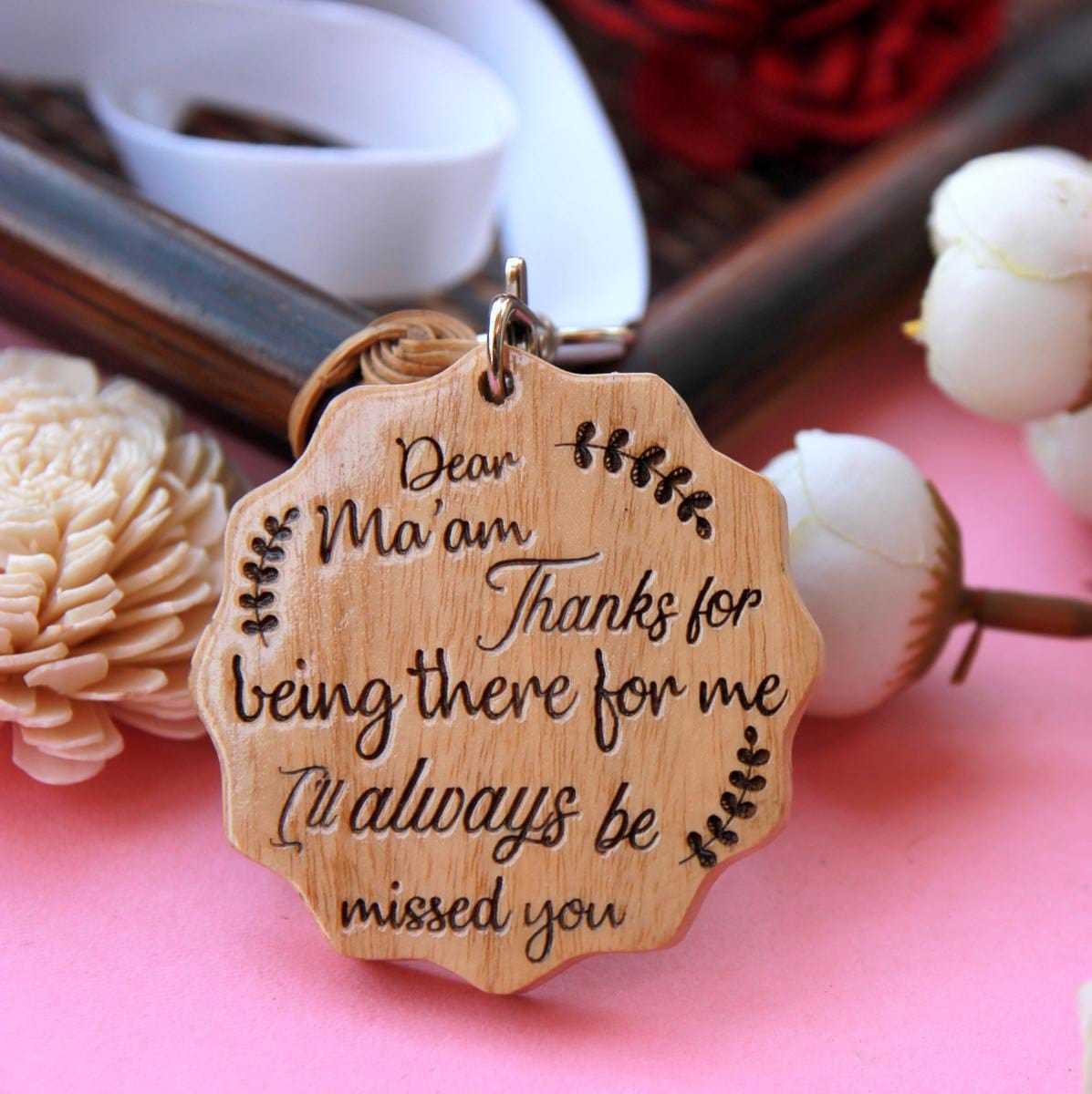 Custom Farewell Wooden Medal For Teacher | Farewell Gifts For Teachers