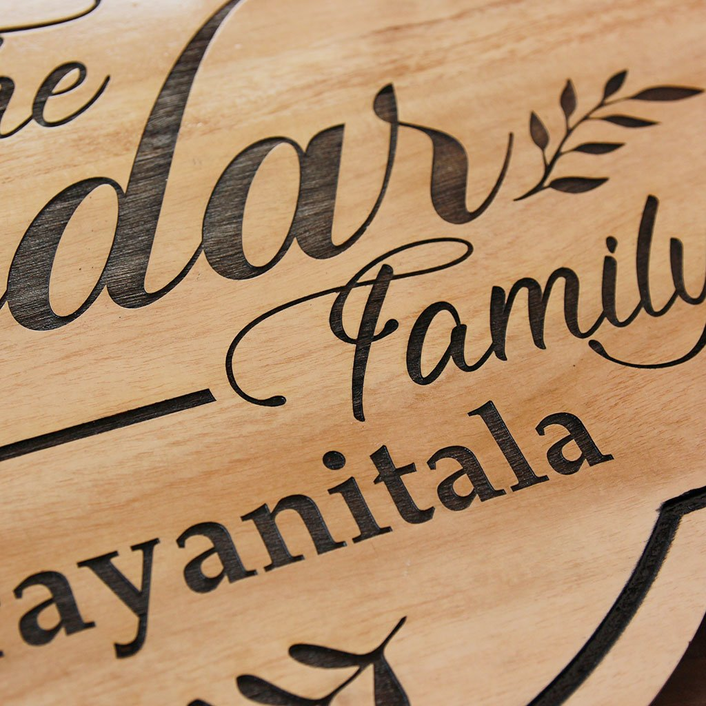 Wooden Family Name Signs - Personalised Signs - Wooden House Signs - Wooden Signs for Home - Woodgeek Store