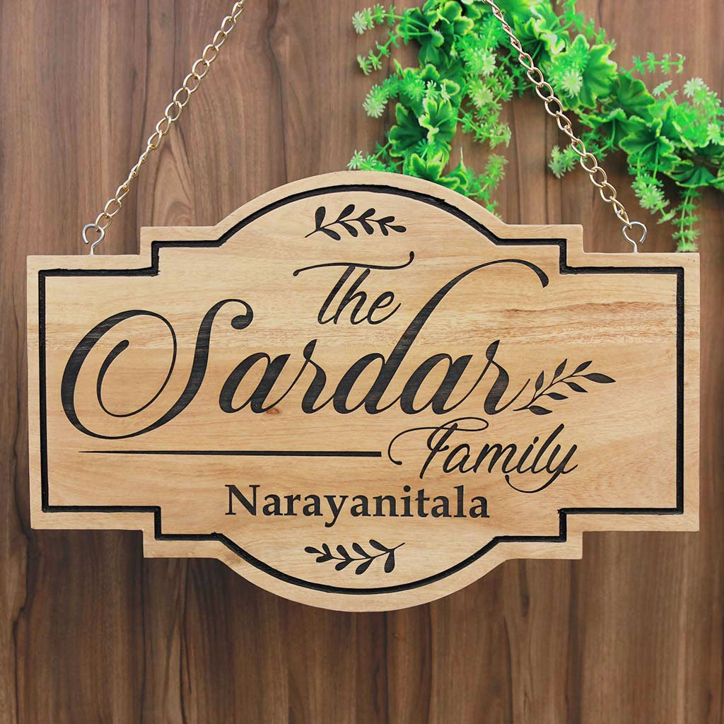 Wooden family name signs personalised signs wooden house signs wooden signs for home