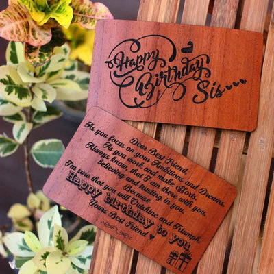 Wooden Greeting Card - Woodgeek Store