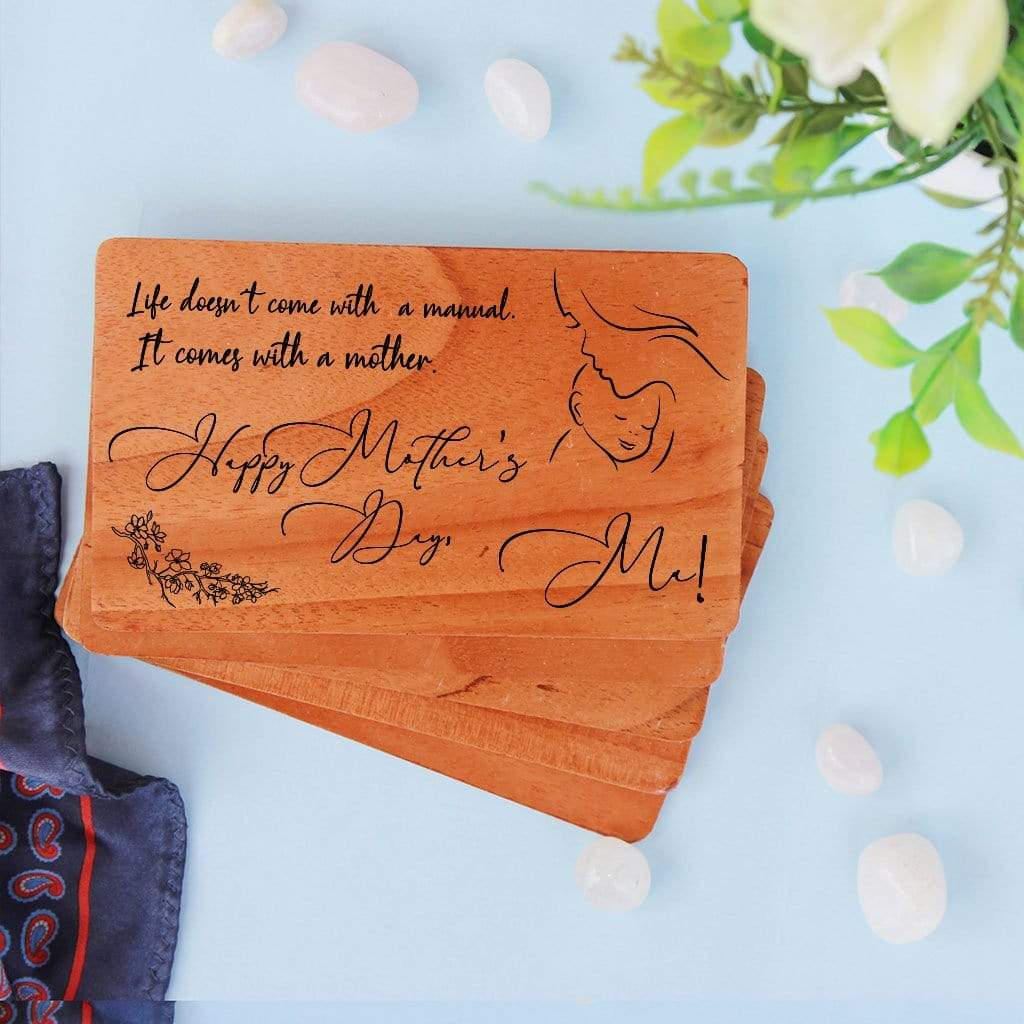 Enjoyable Wooden Greeting Card For Mother Mothers Day Cards Mom Birthday Card Funny Birthday Cards Online Fluifree Goldxyz